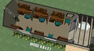 Transportable building office plan with boardroom 6