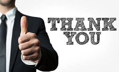 Thank you for your business review